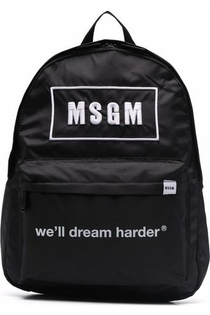 Msgm Embroidered-logo backpack