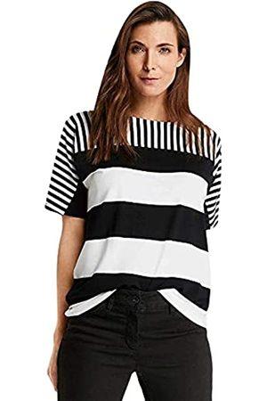Gerry Weber Damen Shirts - Damen 1/2 Arm Shirt mit Streifenmix figurumspielend 42