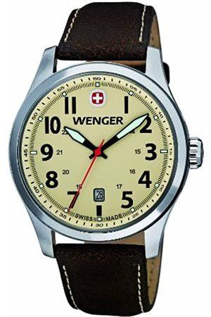Wenger Herren-Armbanduhr XL Terragraph Analog Quarz Leder 01.0541.106