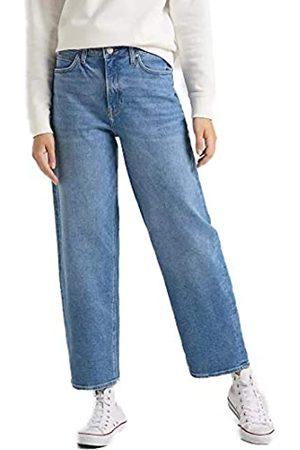 Lee Damen Jeans Wide Leg - Relaxed Fit - Blau - W24-W34 98% Baumwolle, Größe:W 30 L 31