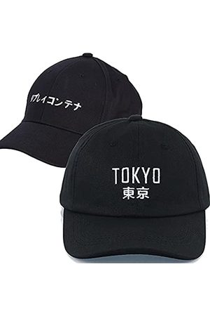 Weytff Baseballkappe & Snapback Tokyo Japanischer Stil 2 2 Schwarz Personalisierte Unisex Damen Herren Baumwolle Stickerei Design Dad Hat