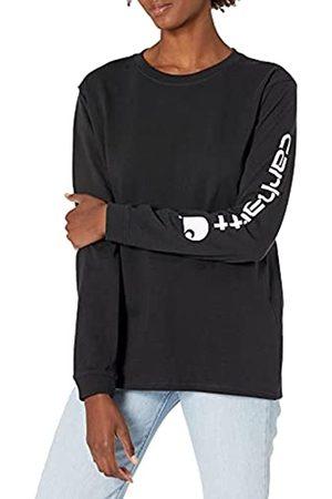 Carhartt Womens Workwear Logo Long-Sleeve T-Shirts, Black