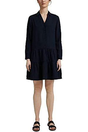 ESPRIT Aus Tencel™: Hemdblusenkleid mit Volants