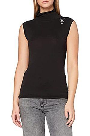 G-Star Womens Slim Rib Mock T-Shirt