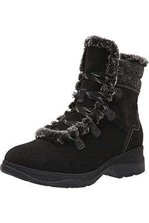 Clarks Damen Aveleigh Zip Warmlined Waterproof Mode-Stiefel, Schwarzes, gewachstes Wildleder