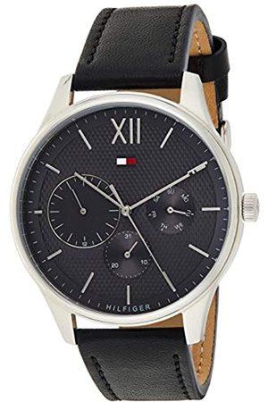 Tommy Hilfiger Herren Multi Zifferblatt Quarz Uhr mit LederArmband