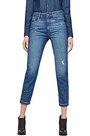G-Star Damen Jeans 3301 Ultra High Waist Straight Ripped