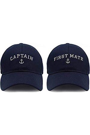 PopCrew Kapitänsmütze & First Mate | Passende Skipper Bootfahren Baseball Caps | Marine-Marine Matrosen Hüte - - Einheitsgröße
