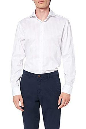 Seidensticker Herren Tailored Fit – Pflegeleichtes, Gestreiftes, Schmales Hemd Mit Kent-Kragen – Langarm – 100% Baumwolle Businesshemd