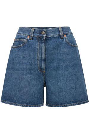 Gucci Damen Shorts - Hochtaillierte Denimshorts