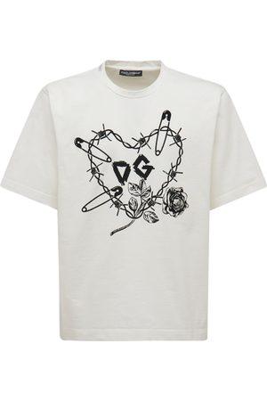 Dolce & Gabbana T-shirt Aus Baumwolle Mit Druck