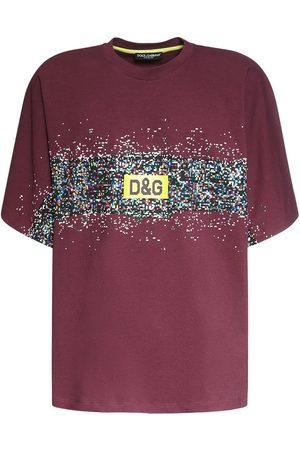 Dolce & Gabbana T-shirt Aus Baumwolle Mit Logodruck