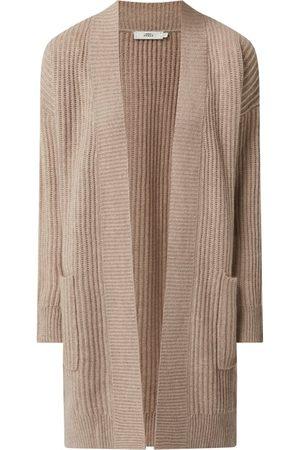 0039 Italy Damen Strickpullover - Longcardigan aus Kaschmir-Woll-Anteil Modell 'Lala