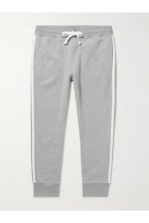 KINGSMAN Herren Jogginghosen - Tapered Striped Cotton and Cashmere-Blend Jersey Sweatpants