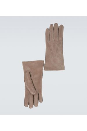 Loro Piana Handschuhe aus Leder und Shearling