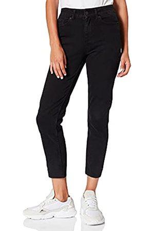 Pieces Damen PCLUNA Straight MW ANK BLC NOOS BC Jeans, Black