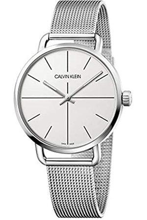 Calvin Klein Unisex Erwachsene Analog-Digital Quarz Uhr mit Edelstahl Armband K7B21126