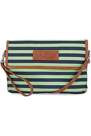Nautica Damen Crossbody Wallet Wristlet Clutchh, Limettengrün/Indigo