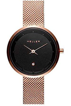Meller Unisex Erwachsene Analog Quarz Uhr mit Edelstahl Armband W5RR-2ROSE