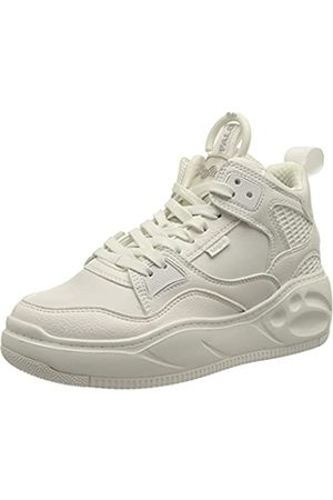 Buffalo Damen Flat MID Sneaker, White