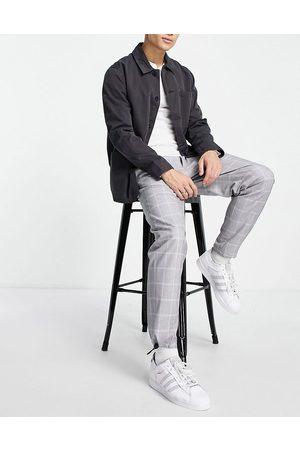 Topman – Karierte Hose in mit lässigem Schnitt und Gürtel