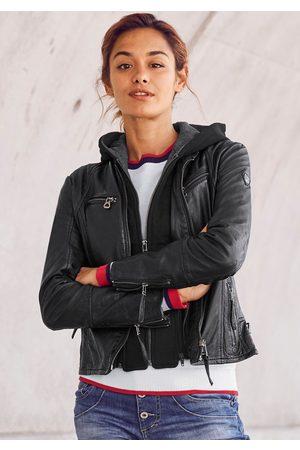 Gipsy Damen Lederjacken - Lederjacke »Nola«, Two-in-One Style - mit abnehmbarer Jersey-Kapuze