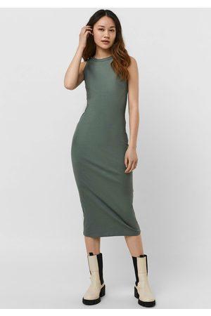 VERO MODA Damen Freizeitkleider - Jerseykleid »VMLAVENDER SL CALF DRESS«