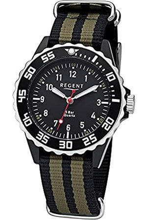 Regent Jungen Analog Shioj. PC21 Uhr mit Nylon Armband 12400310