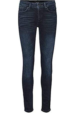 VERO MODA Female Slim Fit Jeans VMELLA Normal Waist L34Dark Blue Denim