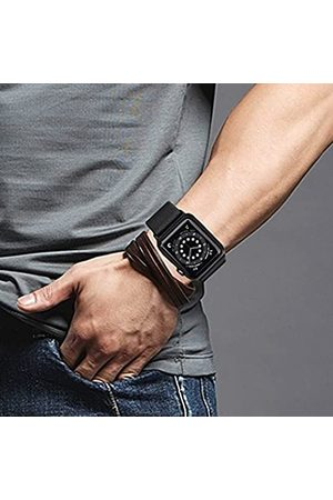 HDAOO 2 Stück dehnbare Nylon-Schlaufenbänder, kompatibel mit Apple Watch-Armbändern, 44 mm, 42 mm, 38 mm, 40 mm, verstellbares geflochtenes Sportarmband für Damen und Herren