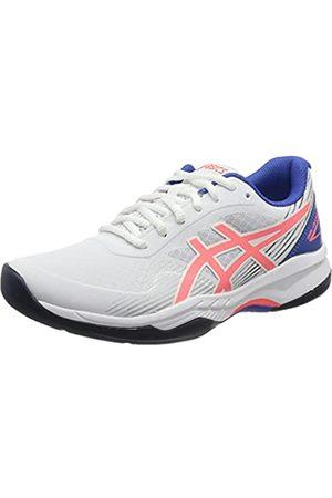 Asics Damen Gel-Game 8 Tennis Shoe, White/Blazing Coral