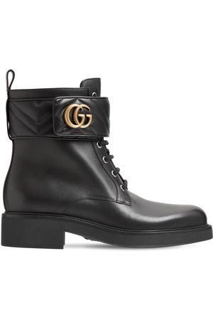 """Gucci Damen Stiefeletten - 25mm Hohe Stiefeletten Aus Leder """"marmont"""""""
