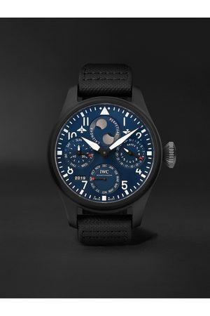 IWC SCHAFFHAUSEN Herren Uhren - Big Pilot's Perpetual Calendar Rodeo Drive Automatic Perpetual Calendar 46.5mm Ceramic, Titanium and Leather Watch, Ref. No. IW503001