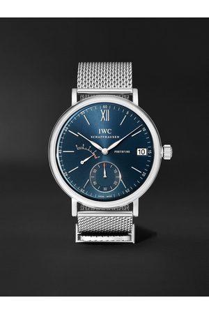 IWC SCHAFFHAUSEN Portofino Hand-Wound Eight Days 45mm Stainless Steel Watch, Ref. No. IW510116