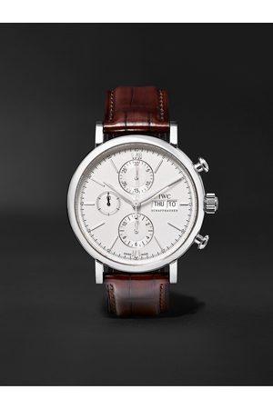 IWC SCHAFFHAUSEN Portofino Automatic Chronograph 42mm Stainless Steel and Alligator Watch, Ref. No. IW391027