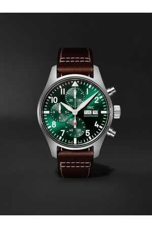IWC SCHAFFHAUSEN Pilot's Watch Automatic Chronograph 41mm Stainless Steel and Leather Watch, Ref. No. IW388101
