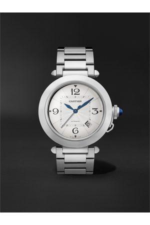 Cartier Herren Uhren - Pasha de Automatic 41mm Stainless Steel and Alligator Watch, Ref. No. WSPA 0009