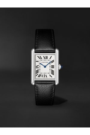Cartier Tank Must 33.7mm Stainless Steel and Leather Watch, Ref. No. WSTA0041