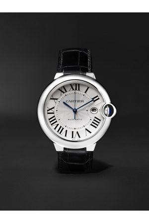 Cartier Ballon Bleu Automatic 42mm Stainless Steel and Alligator Watch, Ref. No. CRW69016Z4