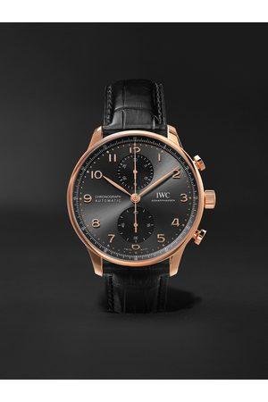 IWC SCHAFFHAUSEN Portugieser Automatic Chronograph 41mm 18-Karat Gold and Alligator Watch, Ref. No. IW371610