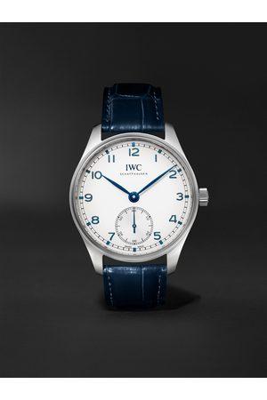 IWC SCHAFFHAUSEN Herren Uhren - Portugieser 40 Automatic 40.4mm Stainless Steel and Alligator Watch, Ref. No. IW358304