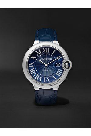 Cartier Herren Uhren - Ballon Bleu de Automatic 42mm Steel and Alligator Watch, Ref. No. CRWSBB0025