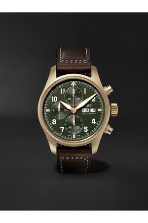 IWC SCHAFFHAUSEN Herren Uhren - Pilot's Spitfire Automatic Chronograph 41mm Bronze and Leather Watch, Ref. No. IW387902