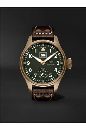IWC SCHAFFHAUSEN Herren Uhren - Big Pilot's Big Date Spitfire 'Mission Accomplished' Limited Edition Hand-Wound 46.2mm Bronze and Leather Watch, Ref. No. IW510506