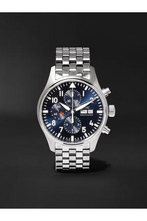 IWC SCHAFFHAUSEN Herren Uhren - Pilot's Le Petit Prince Edition Chronograph 43mm Stainless Steel Watch, Ref. No. IW377717