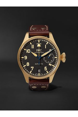 IWC SCHAFFHAUSEN Big Pilot's Heritage Limited Edition Automatic 46mm Bronze and Leather Watch, Ref. No. IW501005