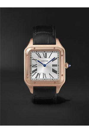 Cartier Santos-Dumont Hand-Wound 33.9mm Extra Large 18-Karat Rose Gold and Alligator Watch, Ref. No. WGSA0032