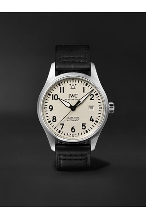 IWC SCHAFFHAUSEN Pilot's Mark XVIII Automatic 40mm Stainless Steel and Leather Watch, Ref. No. IWIW327012