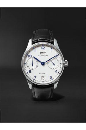 IWC SCHAFFHAUSEN Portugieser Automatic 42.3mm Stainless Steel and Alligator Watch, Ref. No. IW500705
