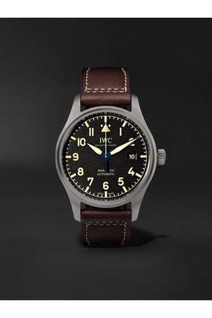 IWC SCHAFFHAUSEN Pilot's Mark XVIII Heritage Automatic 40mm Titanium and Leather Watch, Ref. No. IW327006